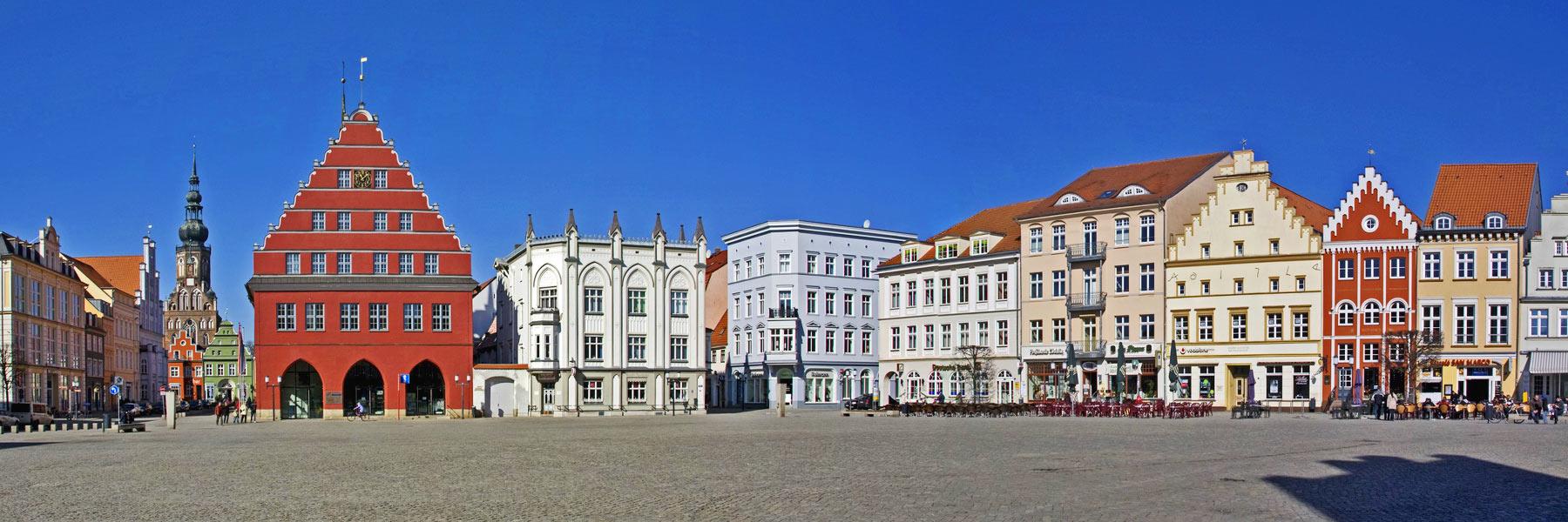 Marktplatz Rathaus - Hansestadt Greifswald