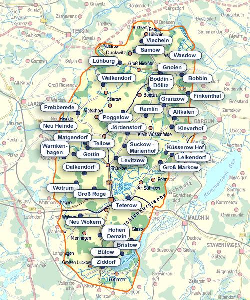 Karte Klaeranlagen