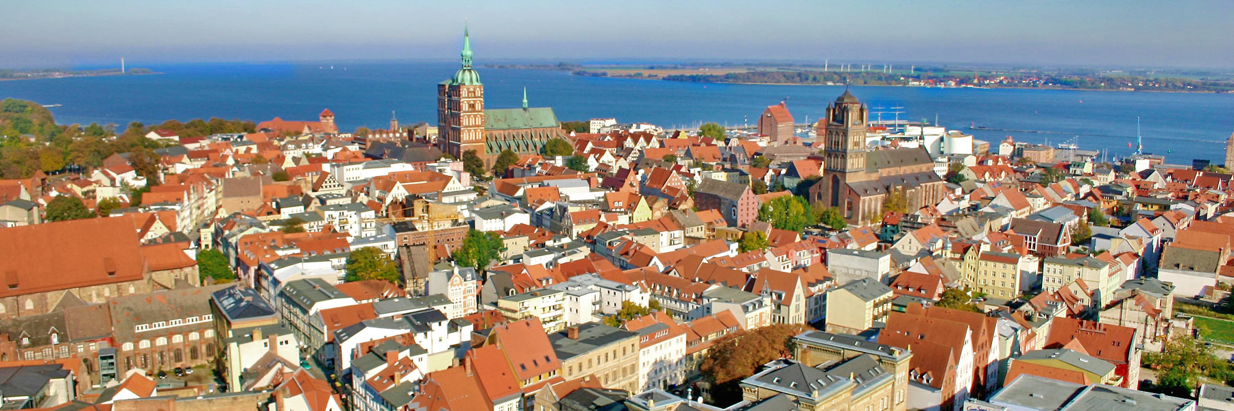 Luftaufnahme - Hansestadt Stralsund