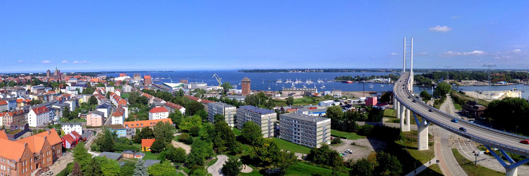 Rügendamm - Hansestadt Stralsund