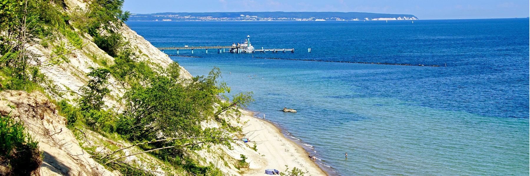 Blick auf die Seebrücke Sellin - Ostseebad Baabe