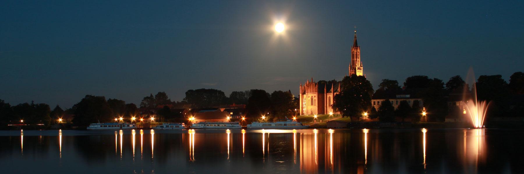 Nacht - Stadt Malchow
