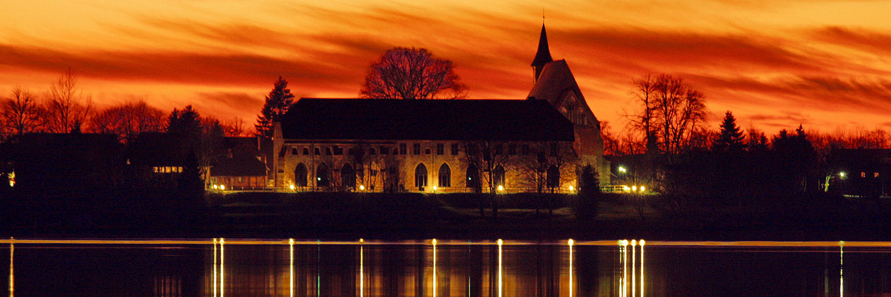 Kirche Sonnenuntergang - Zarrentin