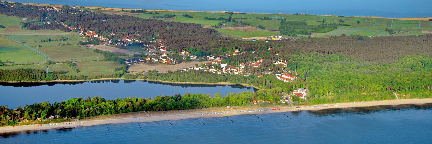 Luftaufnahme - Seebad Loddin-Kölpinsee