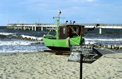 Boot am Ostseestrand
