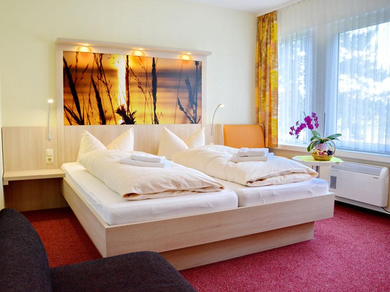 Doppelbettzimmer mit Hotelkomfort