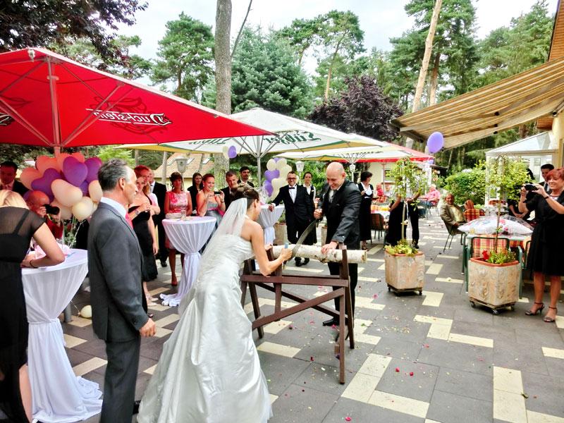 Hochzeitsfeier auf der Sonnenterrasse