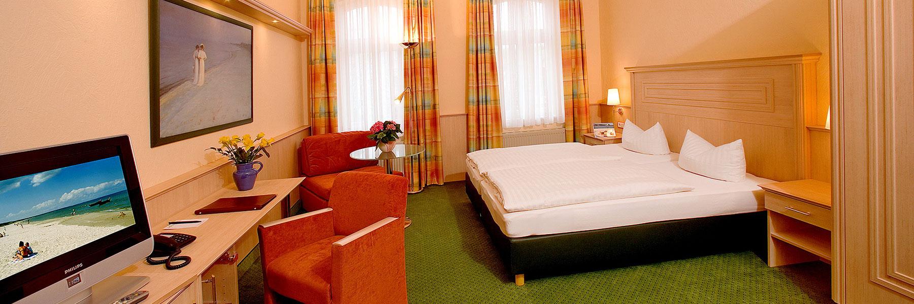 Zimmeransicht - Hotel Dünenschloß
