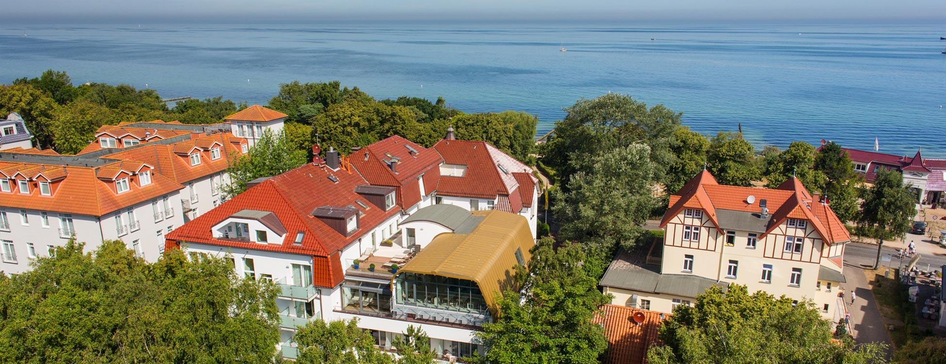 Luftaufnahme - Ringhotel Strandblick