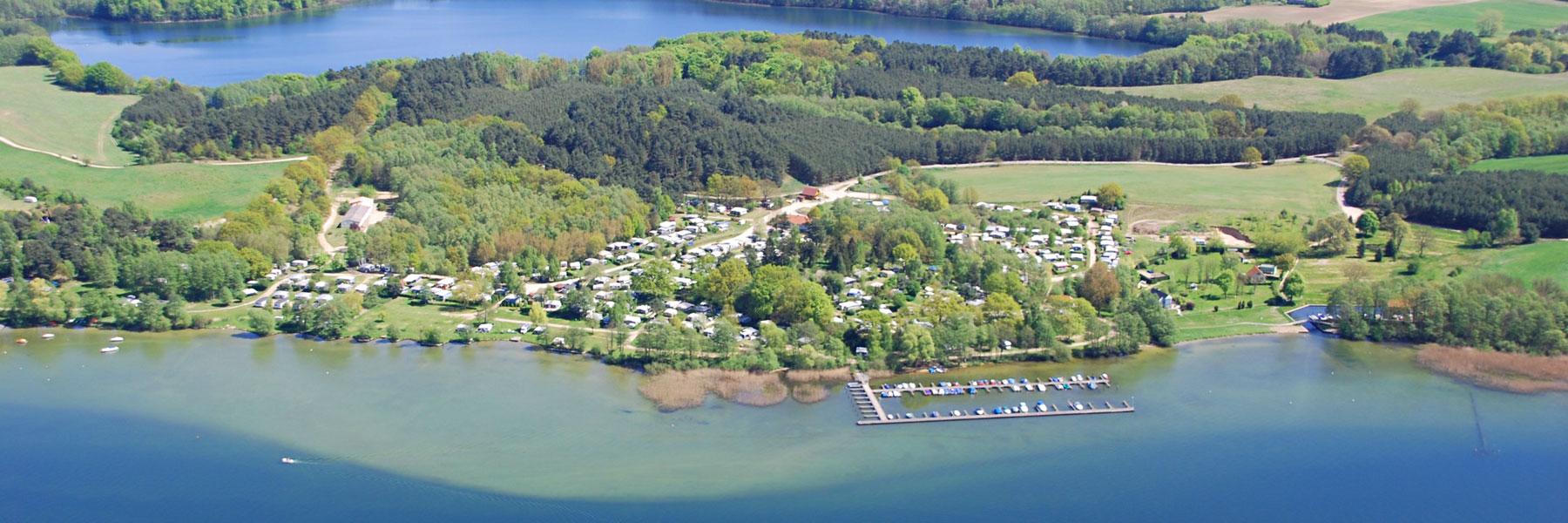 Luftbild - Wald- und Seeblick Camp