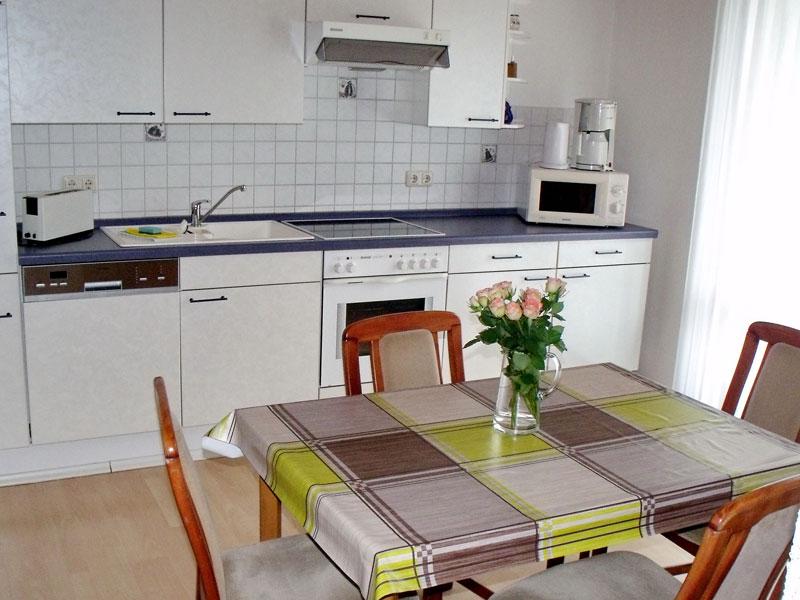 Küche einer Ferienwohnung