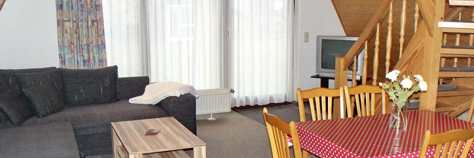 Wohnraum - Ferienhausvermietung Buchholz