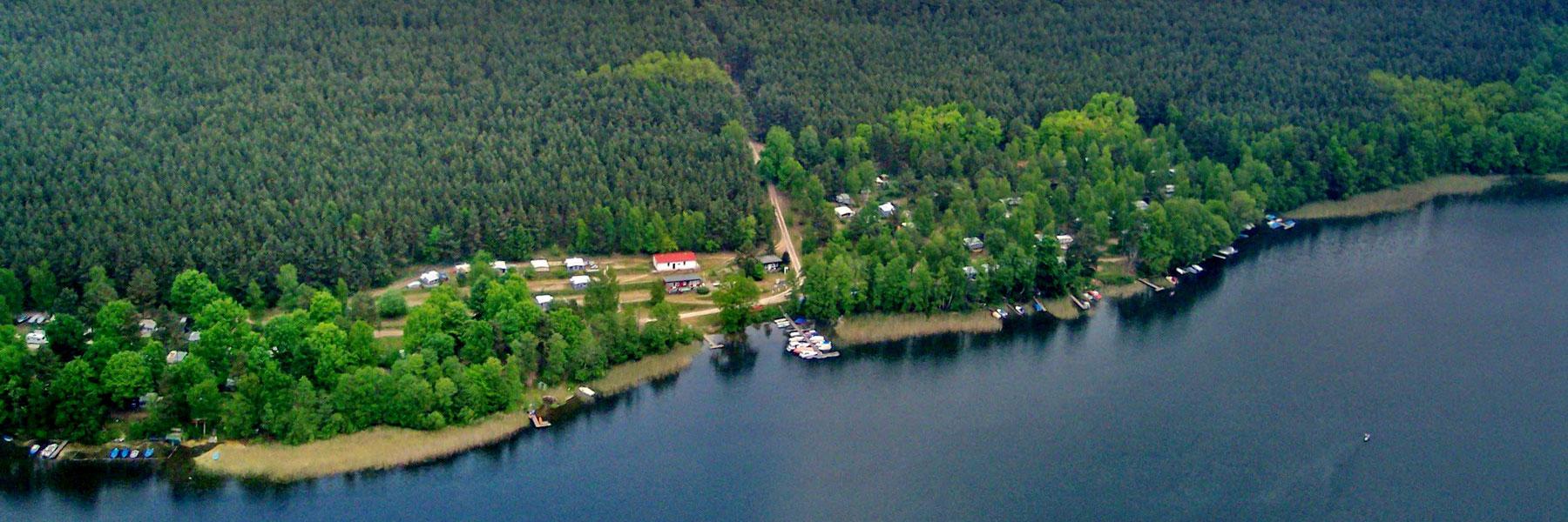 Luftaufnahme - Campingplatz Am Gobenowsee