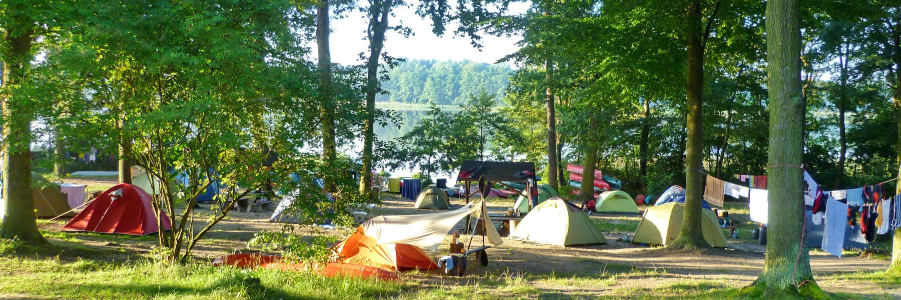 Zelten am See - Campingplatz Am Gobenowsee