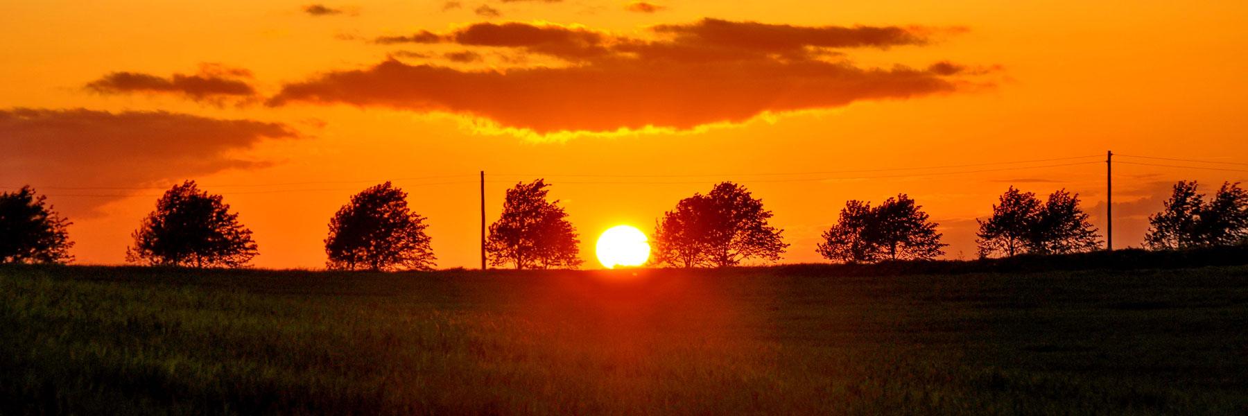 Sonnenuntergang - Krüger Naturcamping