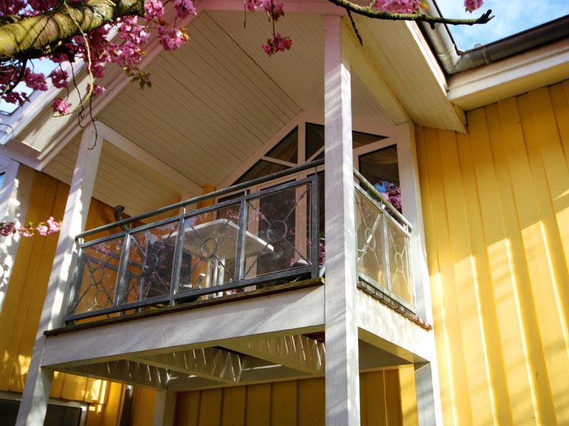 Balkon einer Ferienwohnung