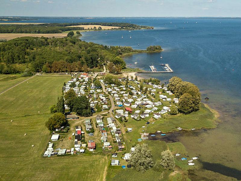 Vogelperspektive Campingplatz
