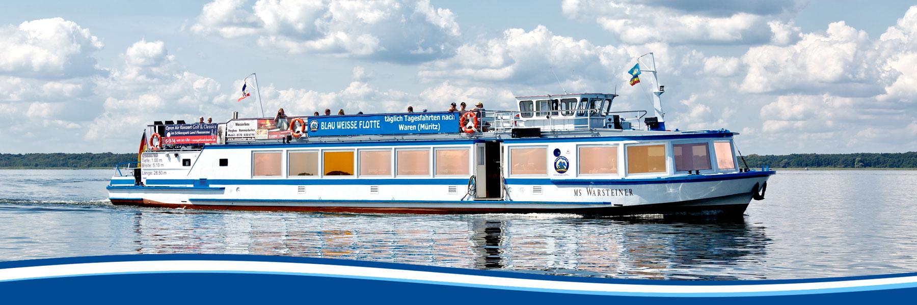 MS Warsteiner - Blau Weisse Flotte Müritz & Seen in Malchow