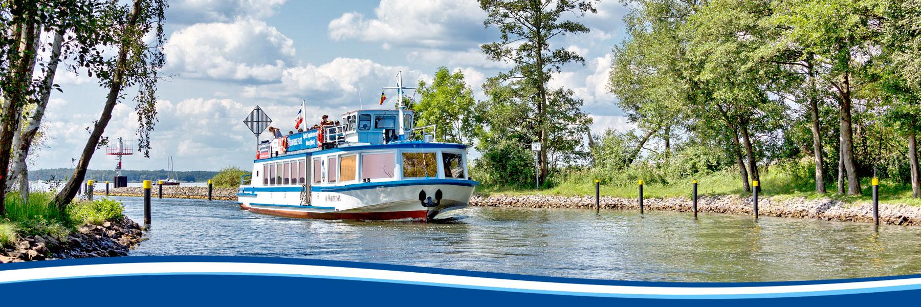Tour - Blau Weisse Flotte Müritz & Seen in Malchow