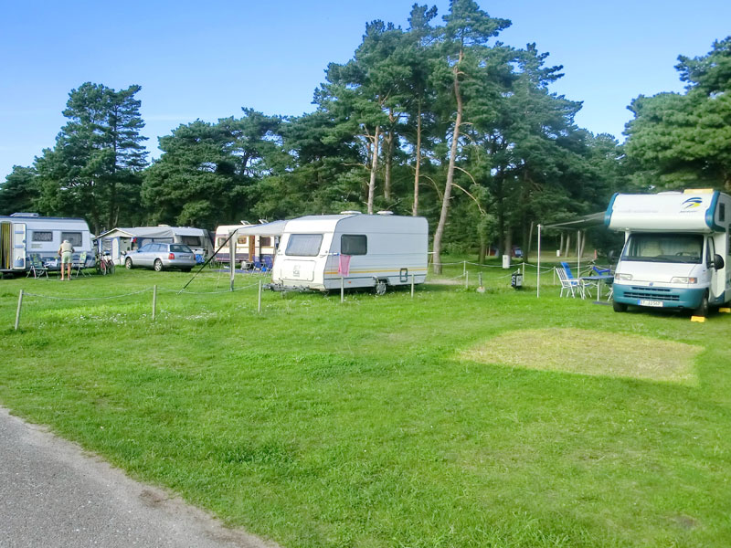 Wohnmobile auf dem Campingplatz