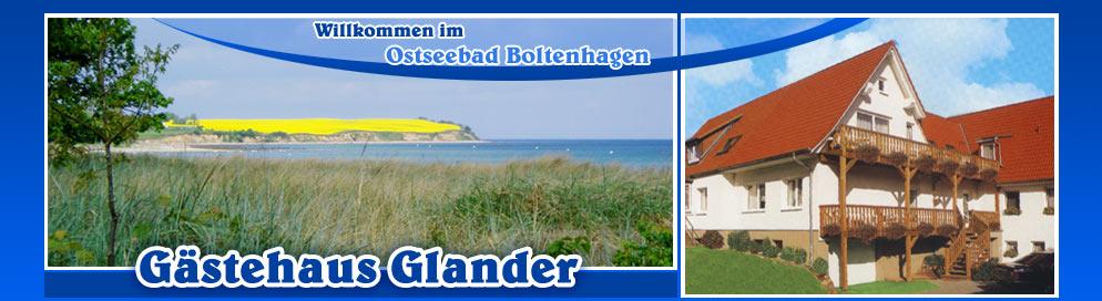 Willkommen im Ostseebad Boltenhagen im Gästehaus Glander