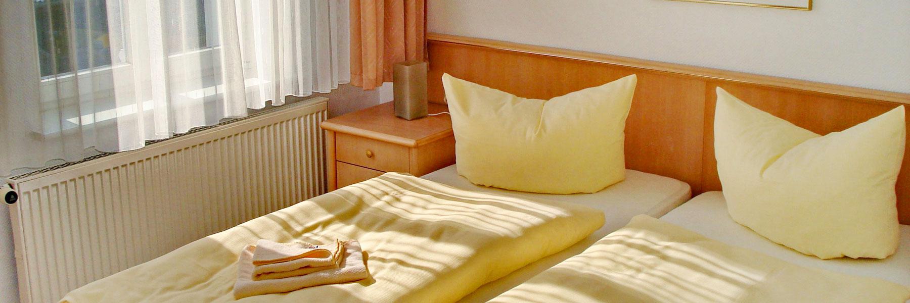 Doppelbett - Pension Haus Pommern