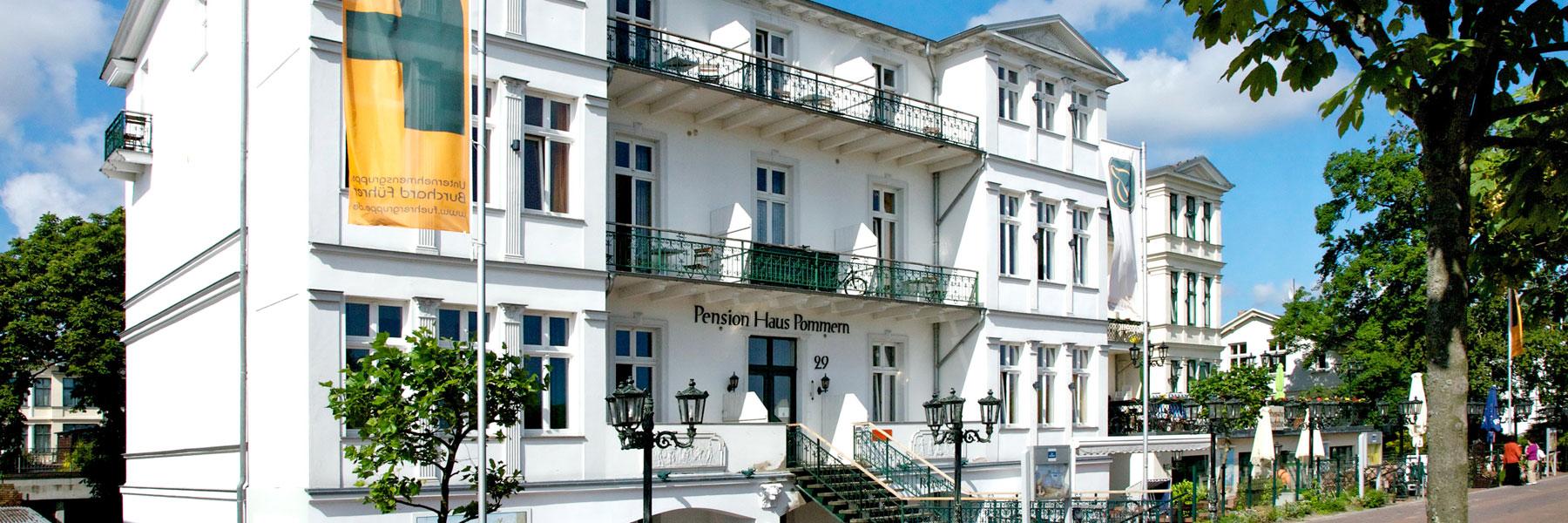 Hausansicht - Pension Haus Pommern