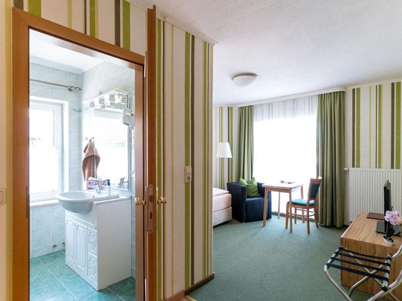 Blick in Einzelzimmer