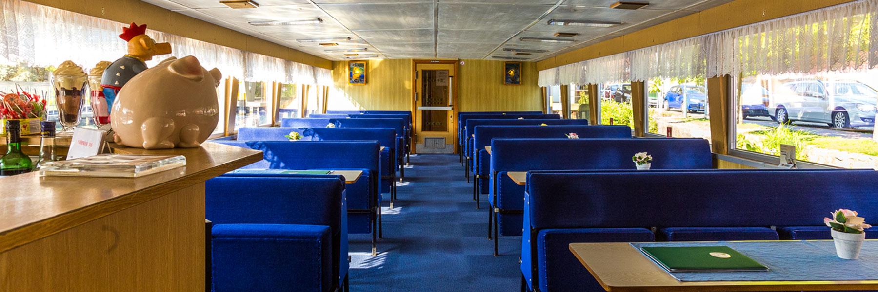 Gastraum - Fahrgastschifffahrt Wichmann