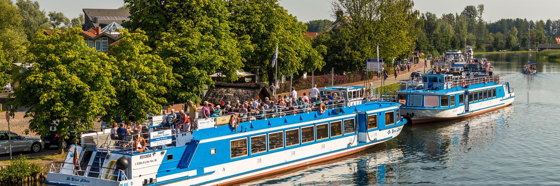 In Plau - Fahrgastschifffahrt Wichmann