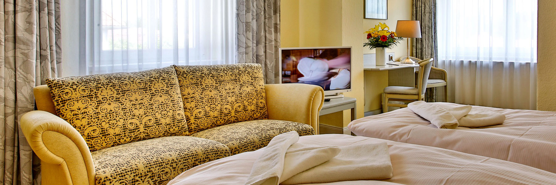 Doppelzimmer - Villa Edda (Hotel-Garni - Ferienwohnungen - Appartements)