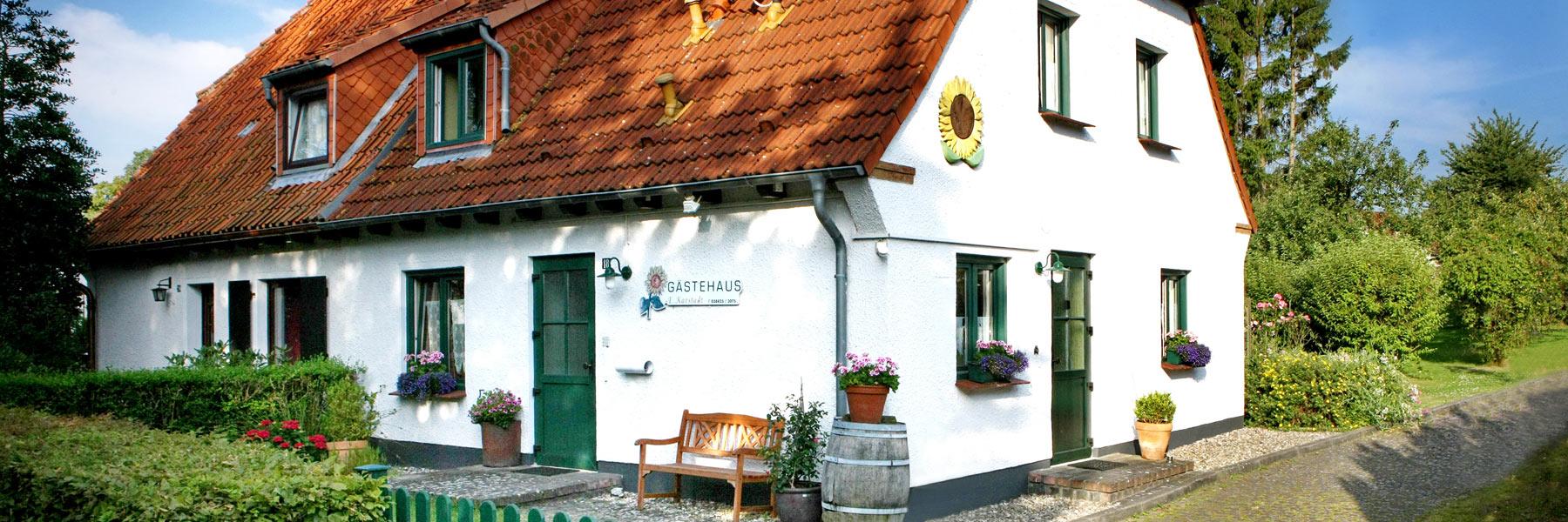 Hausansicht - Gästehaus Karstadt