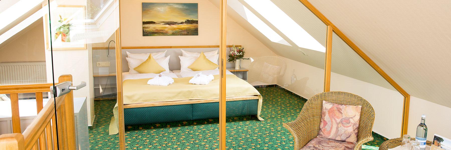 Schlafzimmer - Hotel am Müritz-Nationalpark