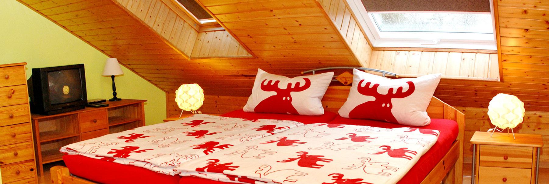 Schlafzimmer - Ferienhaus Kleeblatt