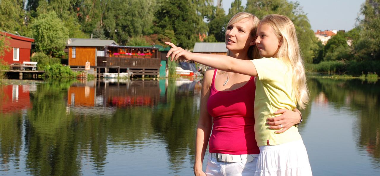 Bei einem Urlaub auf dem Lande in Mecklenburg-Vorpommern ist das Wasser immer in der Nähe ©LANDURLAUB MV/Horn