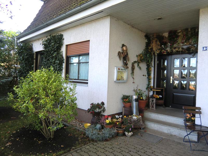 Eingang Pension Quetzin Schnack