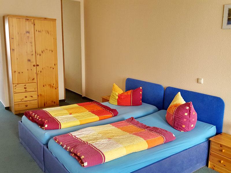 Doppelzimmer in der Müritz-Pension