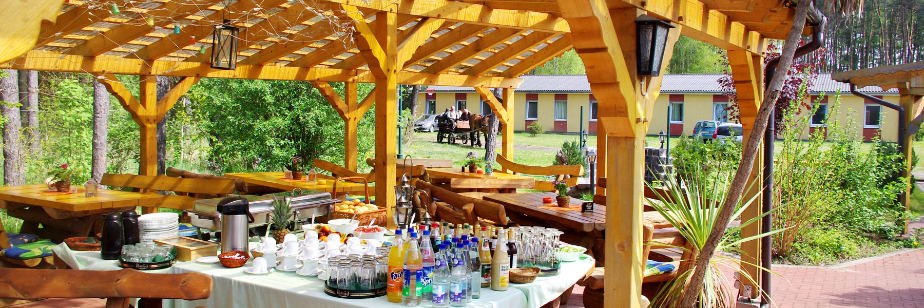 Terrasse - Waldhaus am Ferienpark