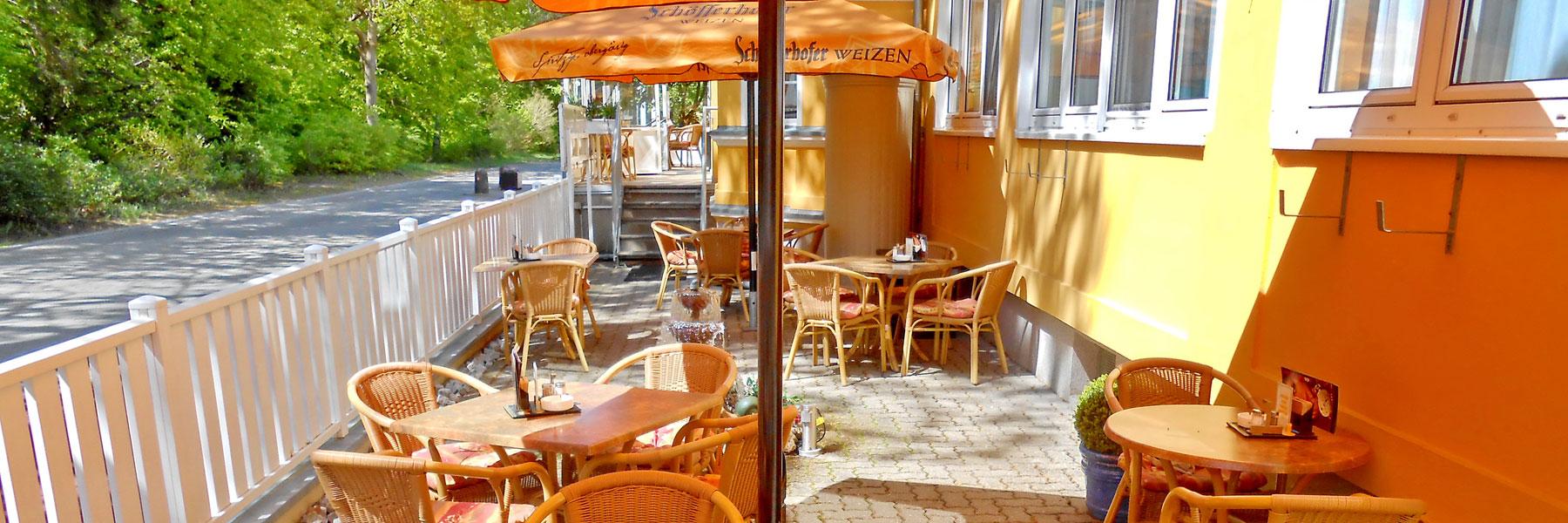 Außenterrasse - Hotel und Restaurant Kähler