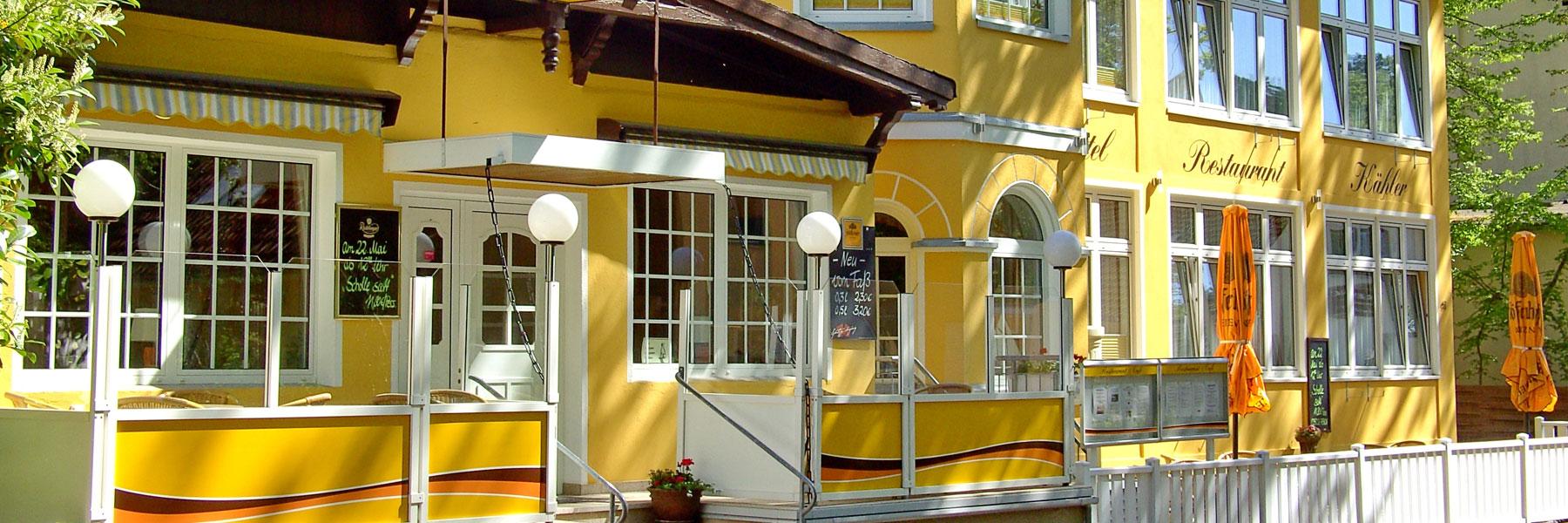 Hoteleingang - Hotel und Restaurant Kähler