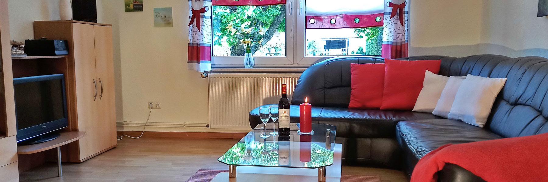 Wohnzimmer - Ferienhaus Lippert