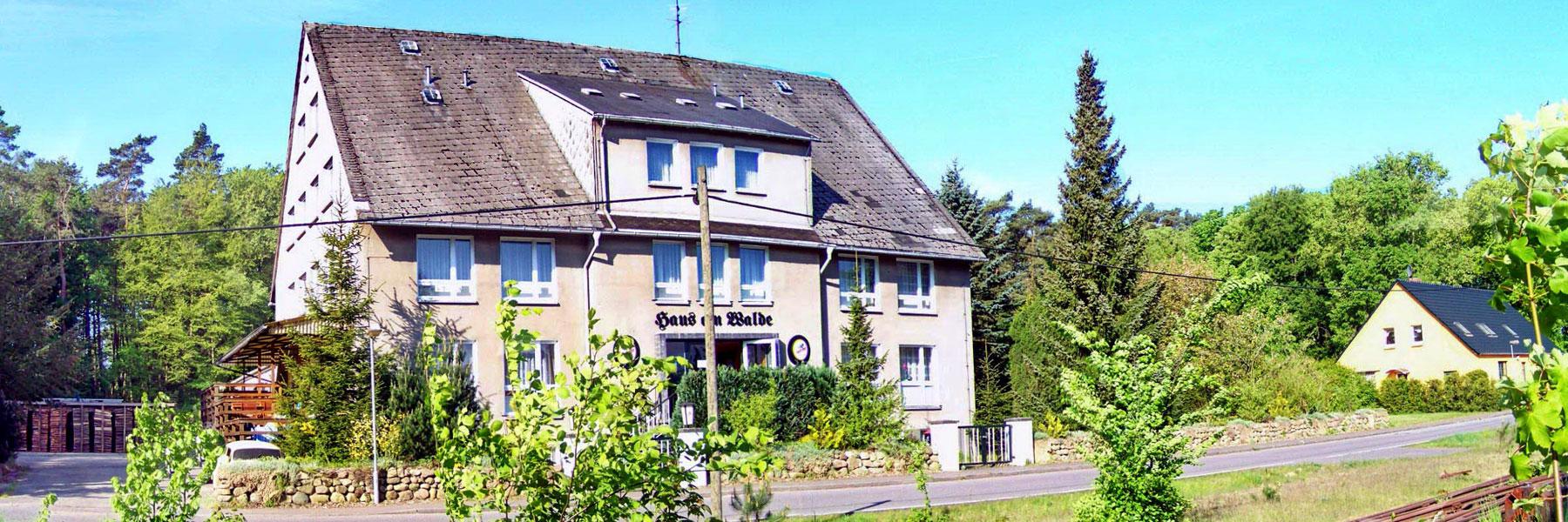 """Außenansicht - Gruppenhaus """"Haus am Walde"""""""