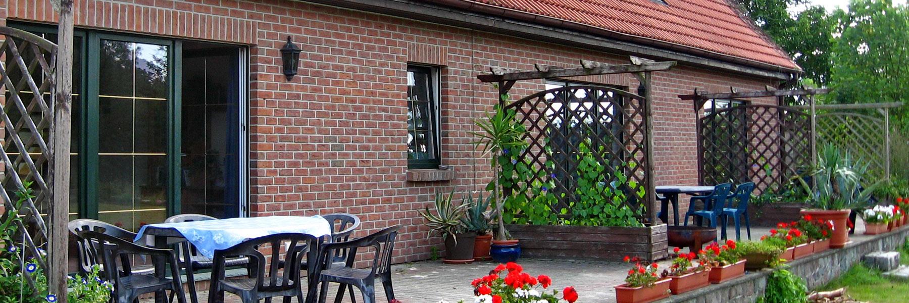 Terrasse - Ferienhof Dinse