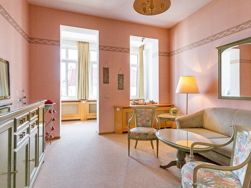 Wohnzimmer einer Suite