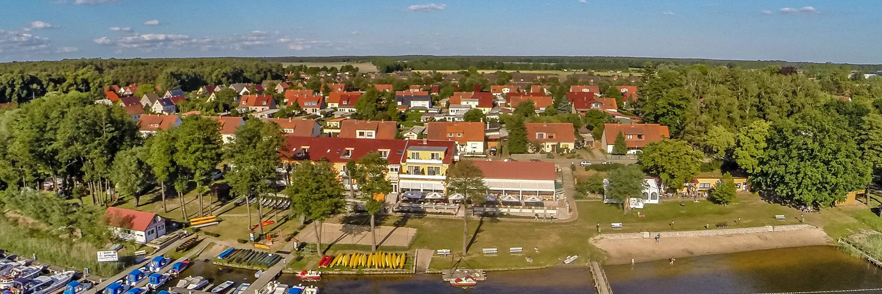 Luftbild - Strandhotel & Restaurant Mirow