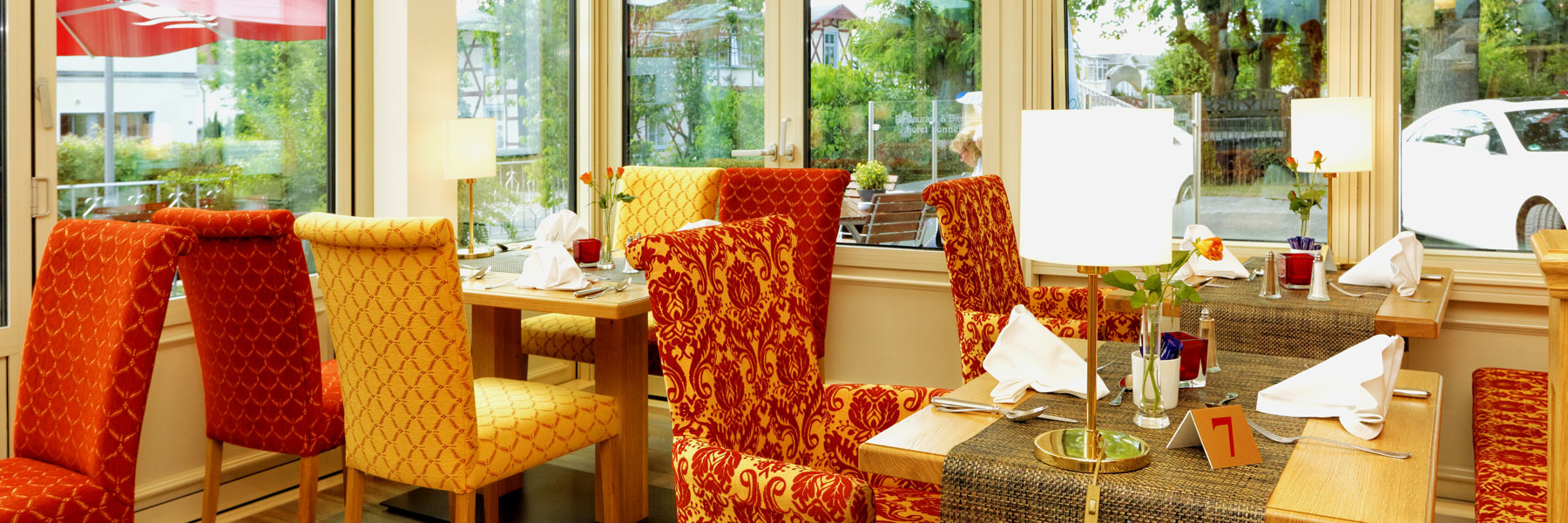Tisch im Restaurant - Hotel Sonneneck