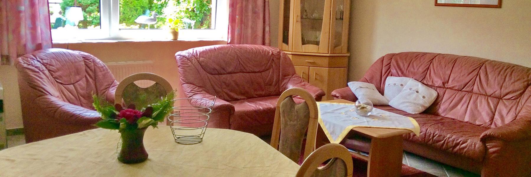 Wohnzimmer - Ferienhäuser Pardun