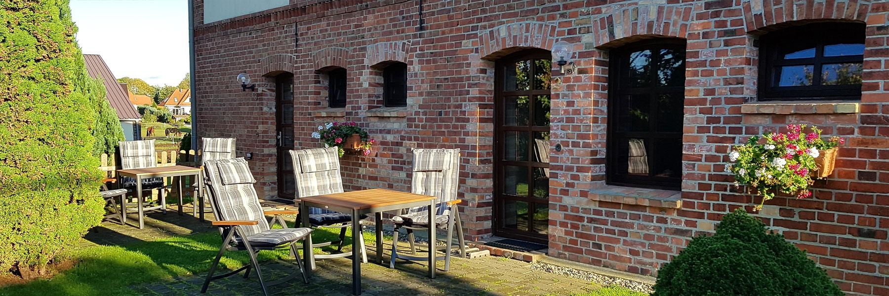 Terrasse - Ferienwohnungen Oliver Stechow