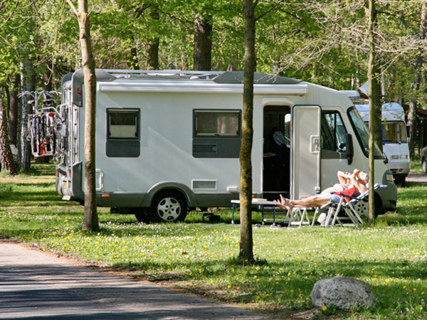 Wohnmobil auf dem Campingplatz...