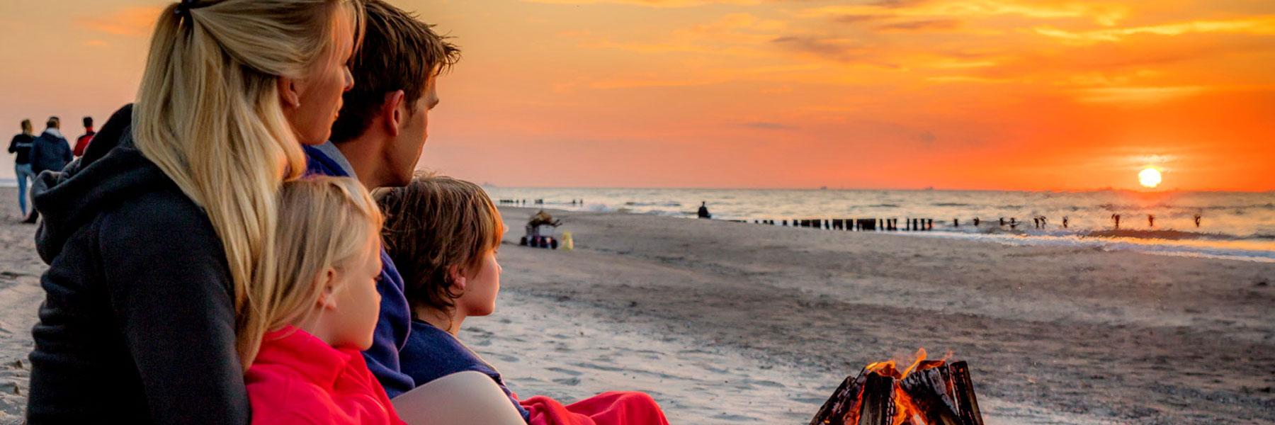 Abendstimmung am Strand - Ostseecamp-Ferienpark